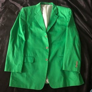 Club Room Men Bright Green Blazer 44R